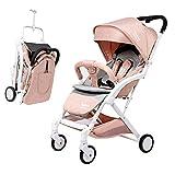 Znesd Mini plegable silla de paseo 2 en cochecito sistema 1 viaje, cochecito portátil de 360 grado...