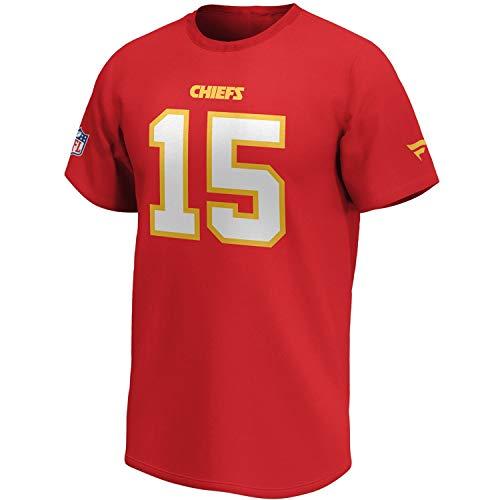 Fanatics NFL T-Shirt Kansas City Chiefs Patrick Mahomes #15 rot Iconic Name & Number Trikot Jersey (M)