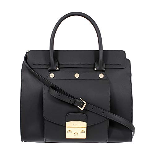 Furla Metropolis Magia Shopping Bag Satchel Leather Onyx