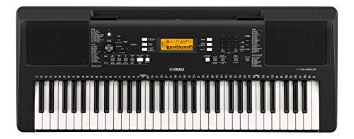 Yamaha PSR-E363 Digitales elektronisches Keyboard mit 61 Tasten und integrierter Unterrichtsfunktion, Schwarz