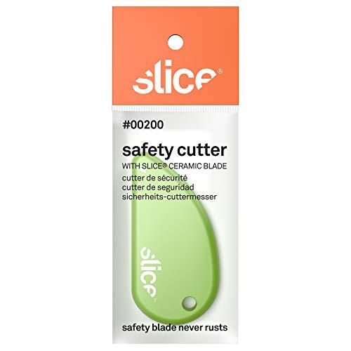 SLICE 00200 Cutter de Sécurité, Lame Micro-Céramique, Sachet Coussin, Vert