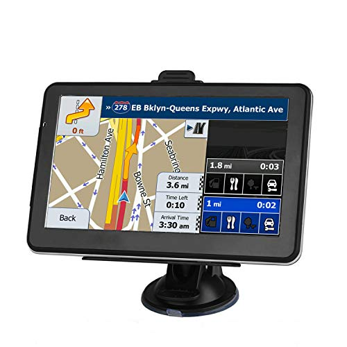 GPS Navigation for car, The Latest North America 2021 Map 7-inch Display 256MB-8GB Real Voice Broadcast Route(Free Update Map for Life)