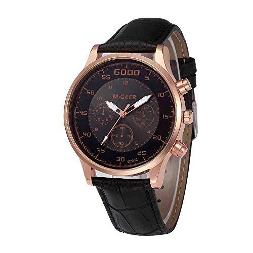 DECTN Reloj de Pulsera Relojes de Hombre Reloj de Cuarzo de Moda Reloj de Correa Elegante y Simple Reloj Masculino Reloj para Hombre de Negocios, Negro