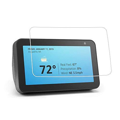 Zshion Echo Show 8 Bildschirmschutzfolie, ultradünn, 9H Festigkeit, gehärtetes Glas, kratzfest, blasenfrei, kristallklar (2 Stück)