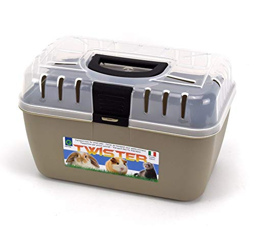 GarPet Transportbox Kleintier Nagetier Meerschweinchen Hamster Vogel Mäuse Trage Box