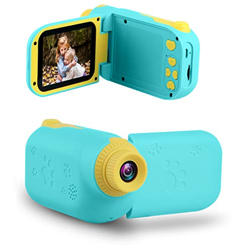 "GKTZ Video Camera Camcorder Digital for Kids, Children's Toys DV Cameras Recorder with 2.4"" 1080P FHD Screen for Age 3-10 Year Old Boys Girls Birthday Gifts,Including 32GB Memory Card - Blue"
