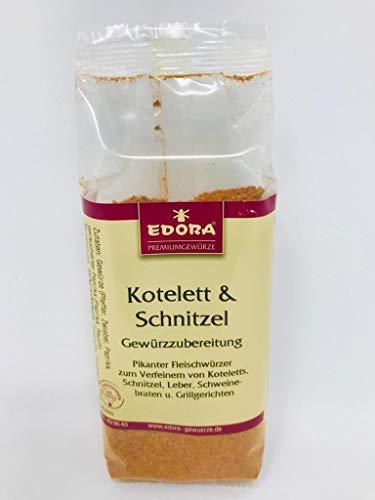 Premium Qualität Gewürz EDORA Beutel Tüte Kotelett Schnitzel Gewürzzubereitung Fleischwürzer braten grillen 125 Gramm