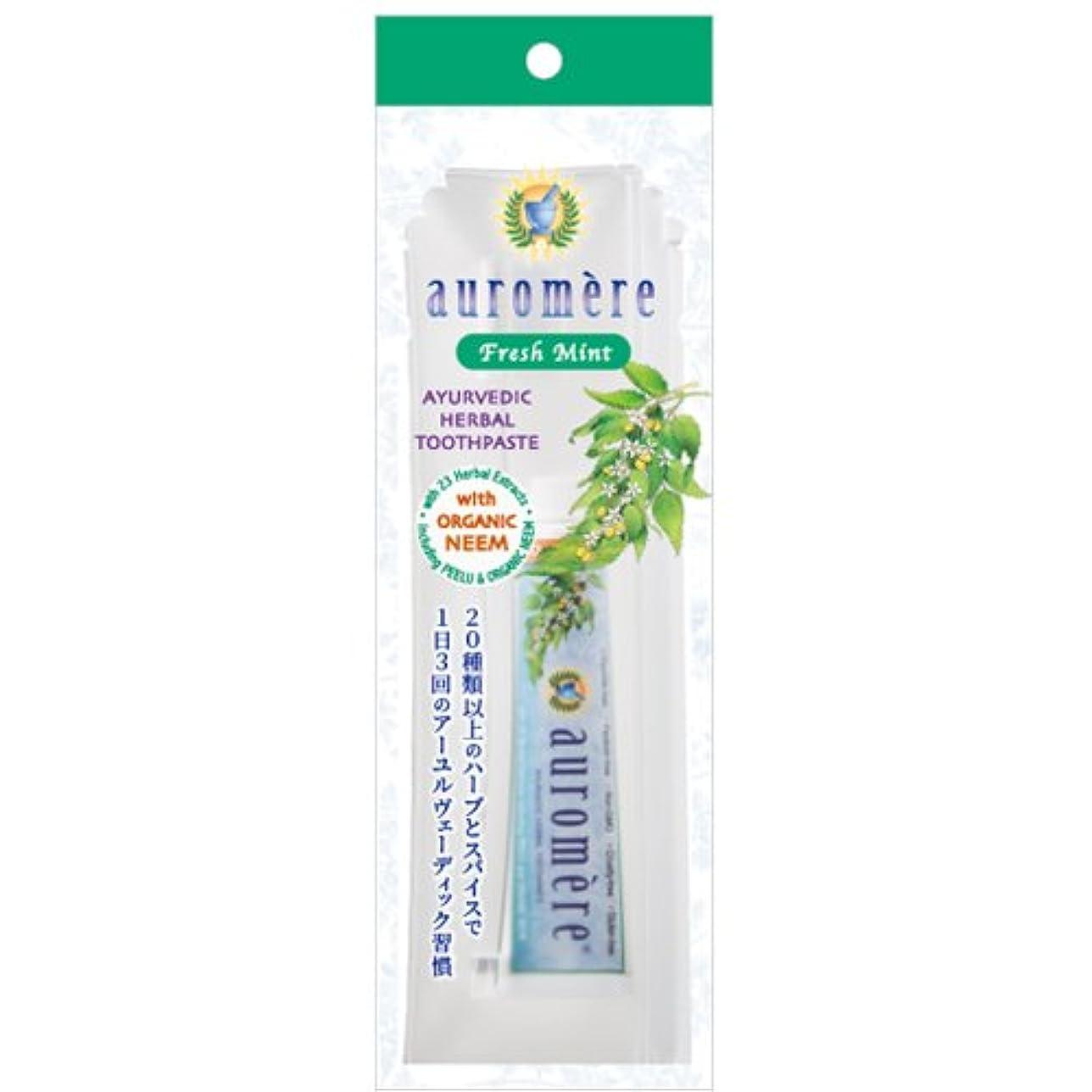 予防接種ウェイド浸食オーロメア 歯磨き粉 フレッシュミント トラベルセット (30g)