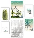 Mia Félice Premium Poster Set » At the Beach « 2x A3 |