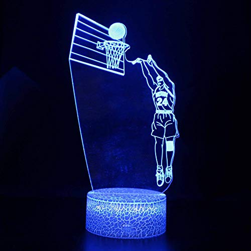 Base iluminada 3D LED Night Light Cast Baloncesto 7 Color Baby ...