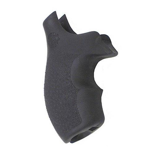 Hogue 61000 Rubber Grip for S&W, J Frame, Round Butt, Bantam, Black