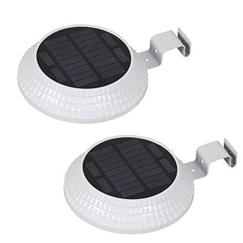 Solarrinnen-Licht wasserdichtes LED-Weitwinkelbeleuchtungs-Sicherheitslicht im Freien, Terrasse, Zaun, Abzugsgraben, Tür und Wand weiß 2 Stück