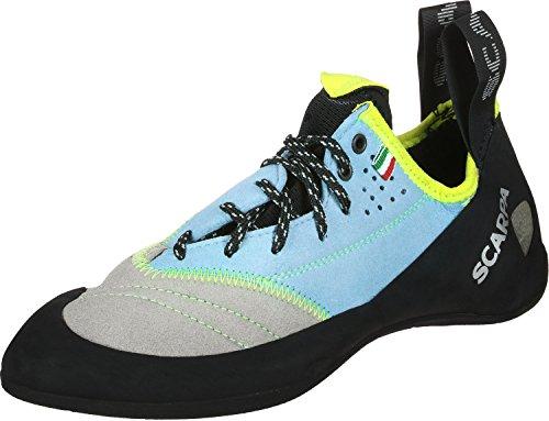 Scarpa W Velocity L Blau-Grau-Schwarz, Damen Kletterschuh, Größe EU 36 - Farbe LightGray - Turquoise