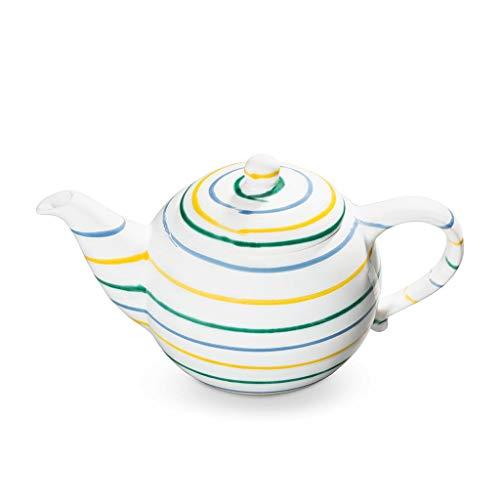 GMUNDNER KERAMIK Teekanne glatt Füllmenge : 1.5 Liter Buntgeflammt Geschirr, handgemacht in Österreich