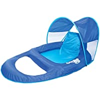 SwimWays Spring Float Recliner with Canopy for Pool