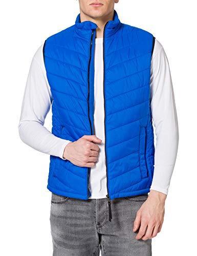 Tom Tailor 1024069 Lightweight Chaleco Guateado, 21718 Lapis Azul Blue, XXXL para Hombre