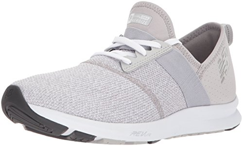 New Balance Women's FuelCore Nergize V1 Sneaker, Overcast/White/Heather, 5 M US