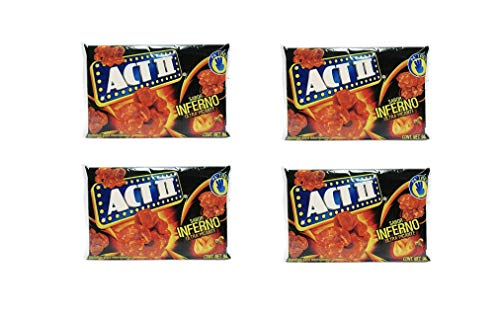 Best Buy! Act II Popcorn Palomitas sabor Inferno Ultra Picante, Ultra Hot (4-pack) Spicy Popcorn Inf...