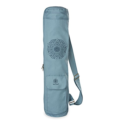 Gaiam Embroidered Cargo Yoga Mat Bag, Niagara, 30' L x 6' Diameter