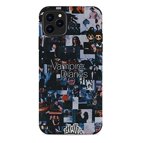 Supporto TPU per iPhone 12/12 Pro Max 12 mini 11 Pro Max SE X XS Max XR 8 7 6 6s Plus Custodie Vampire Diaries Cover nera per custodie per telefoni