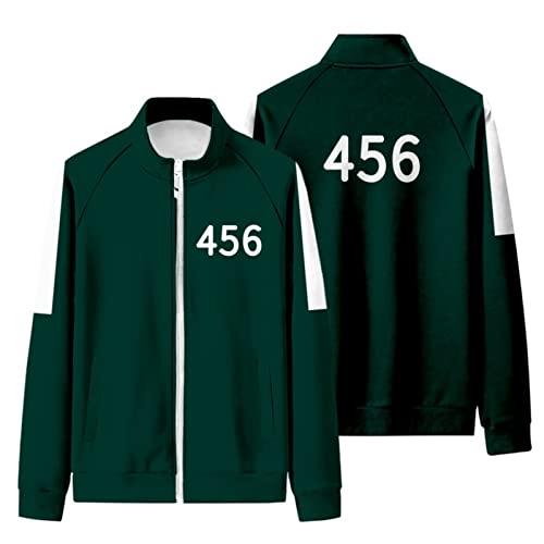 ITSHAY Chndal de Disfraz de Juego de Calamar Verde,Disfraces de Halloween de Juego de Calamar,Disfraz Verde de Juego de Calamar 067 001 456 218 (Color : Green 456, Size : XL-a)
