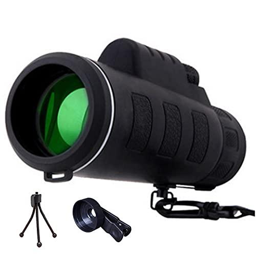 Los monoculares de Alta definición, la visión de la Noche de Baja luz al Aire Libre Puede Tomar Fotos, con Clip de teléfono móvil, telescopio con trípode