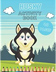 Husky Activity Book!!: Coloring, Word Search , Copy The Picture And Coloring , Dog Activity Book