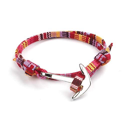 XUEKE Cuerda de tela ancla de la nave de plata de anclaje macho y hembra pareja cuerda de mano. rojo