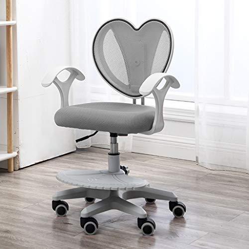 Ergonomische Stoelen, Student Computer Stoel kan worden aangepast op en neer, bureaustoel Child Corrigerende stoel zitten, Comfortabel Back Protection Spine Thuis Office Chair (Color : Gray)