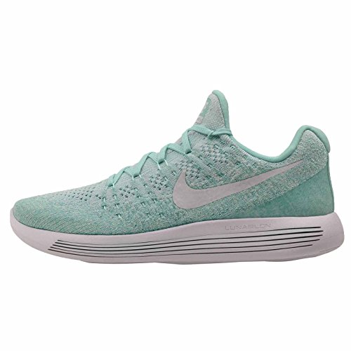 NIKE Womens Wmns Lunarepic Low Flyknit 2, Hyper Turquoise/Pure Platinum - Igloo, 5.5 M US