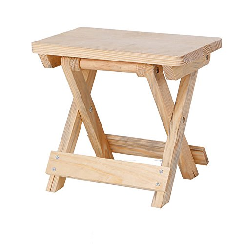 HJR-Chaises Tabouret pliant, tabouret en bois massif, tabouret de pêche portatif, tabouret de chaussure en changement, banc à la maison, maza simple, tabouret pour adultes