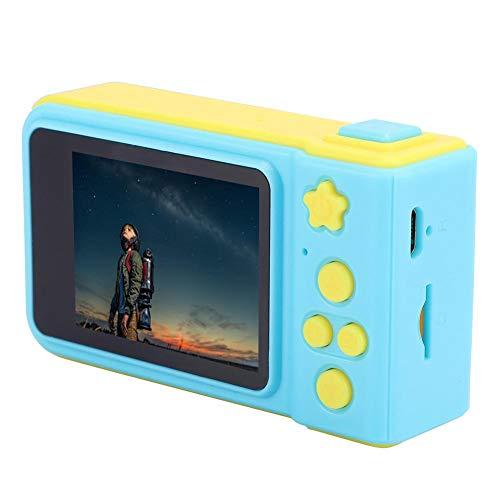 Kindercamera, selfie-modus, optionele 8-scène, 4-opnamezoom, fotosticker-functie, 8MP 2.0 inch scherm Selfie-fotosticker Mini digitale camera geel met draagkoord voor kinderen