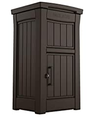 DIMENSIONS: Exterior: 20. 9 in. W x 24. 4 in. D x 44 in. H RESIN CONSTRUCTION: It's made out of all weather-resistant resin to protect deliveries from the elements 1 WAY, 2 TRAY SYSTEM: ensures that packages can be placed in the box without access to...
