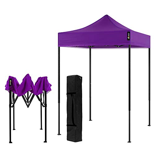 AMERICAN PHOENIX Canopy Tent 5x5 Pop Up Portable Tent Commercial Outdoor Beach Instant Sun Shelter (Red)