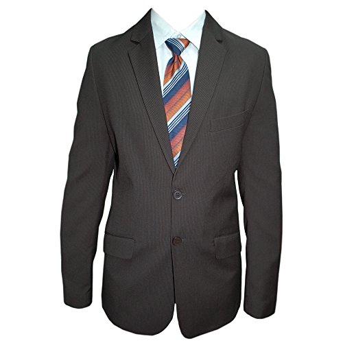 junior b. - Jungen Anzug festlich Jacke und Hose Slim, Dunkelbraun, Größe 170