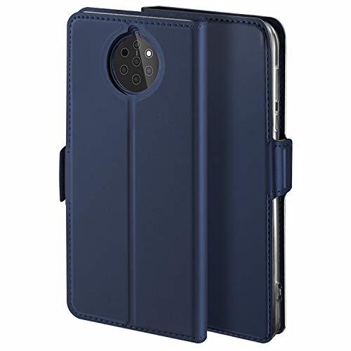 HoneyHülle für Handyhülle Nokia 9 PureView Hülle Premium Leder Flip Schutzhülle für Nokia 9 PureView Tasche, Blau