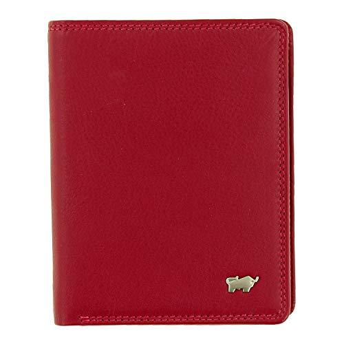 BRAUN BÜFFEL Geldbörse Golf 2.0 aus echtem Leder - 7 Fächer - rot