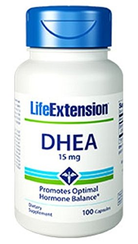 Life Extension DHEA (Dehydroepiandrosterone) | 15 mg 100 Capsules (Multi-Pack)