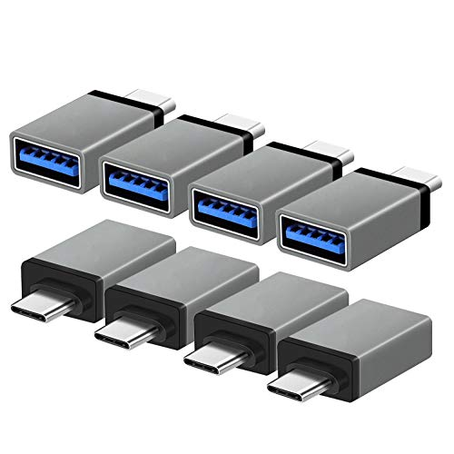 3.0 USB C to USB Adapter 8 Pack Aluminum OTG Adaptor Woodcovo Type C to USB A Converter Data Syncing and Charging for Samsung,MacBook,ChromeBook Pixel,Nexus,All Type C Supported Device