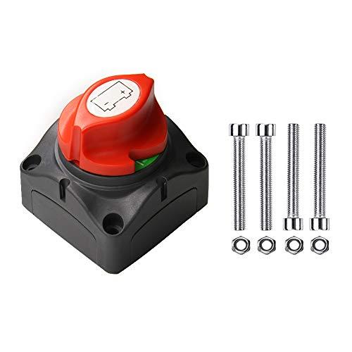 Un interruptor de batería ABIGAIL 12-48 V 275/1250 Amperios de potencia de batería interruptor maestro de desconexión aislador para coche vehículo RV ATV UTV barco marino en posición de apagado A5201C