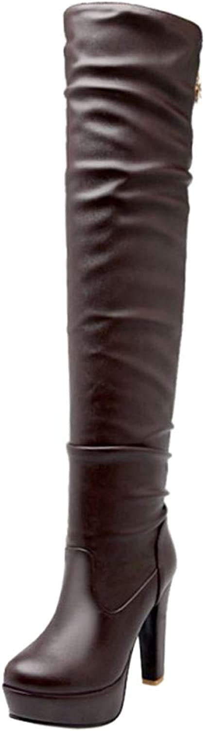 Lydee Women Fashion Thight High Boots Platfrom