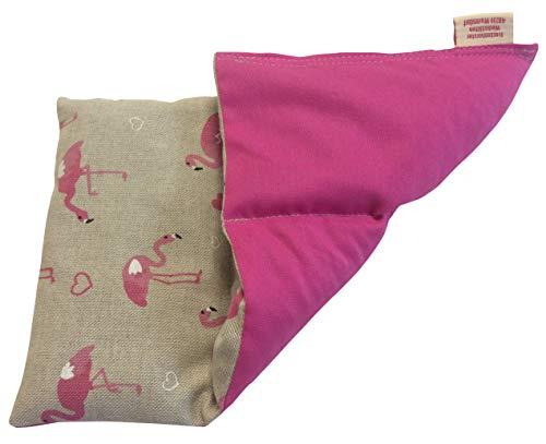 Textil FreWe Körnerkissen Baumwolle/Verschiedene Designs/ca. 28x16 cm / 3 Kammern (Flamingo/pink)