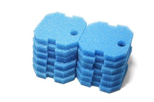 LTWHOME Remplacement Bleu Grossier Filtration Tapis Convient pour Eheim Professionnel 2222/2324 et Expérience 150/250/250T (Paquet de 12)