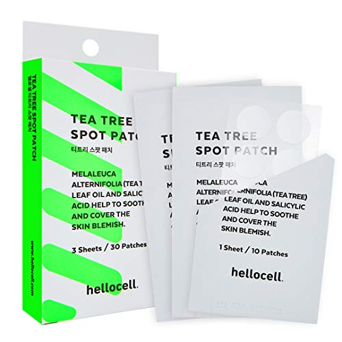 Tea Tree Spot Patch 30 dots - small, invisible, bandaids, Salicylic Acid,Fast, Blemishes, Spot, Cover, Acne, Pimple, Blemish, Face, Stickers, Patches