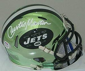 Curtis Martin Autographed Signed Ny Jets Riddell Chrome Speed Mini Helmet Auto - HOF - PSA