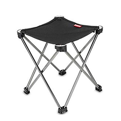 SGHH-UK Tragbare Outdoor Klappstuhl Hocker Ultraleicht Camp Fußstütze Faltbare Aluminium Stuhl Hocker for Camping Angeln Freizeit Stuhl (Color : Black)