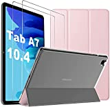 Mutoy Funda para Samsung Galaxy Tab A7+para Samsung Galaxy Tab A7 Cristal blindado [2 Unidades], Funda con Cristal blindado para Samsung Tab A7 10.4 2020,Cubierta para Samsung Galaxy Tab A7,Rosa