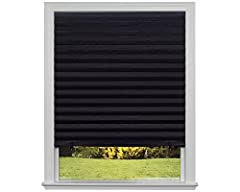 Trim at home for the perfect fit inside or outside your window frame, then install in seconds without a drill, screws, or brackets- no tools needed Block 99% of light for complete privacy, light control, and UV protection for bedrooms, children's roo...