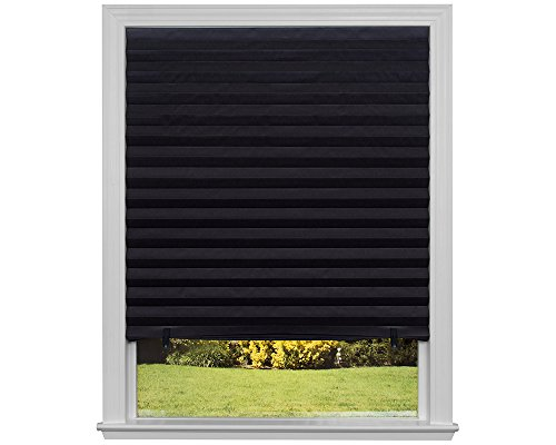 Original Blackout Pleated Paper Shade, Black, 36″ x 72″, 6 Pack