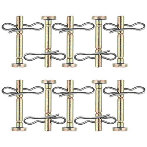 BESTonZON Scherbolzen für Schneefräse Scherbolzen und Splint Abscherbolzenkit Kompatibel für 738-04124 714-04040 10 Sätze Ersatzteile Reparatur Zubehör
